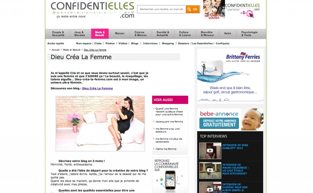 confidentielles parution site