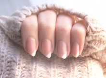 ongles french diagonale