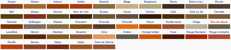 Pin by aur lie b on colours rainbow pinterest - Couleur marron taupe ...