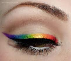 rainbow gradient eye liner le eyeliner multicolore arc en ciel