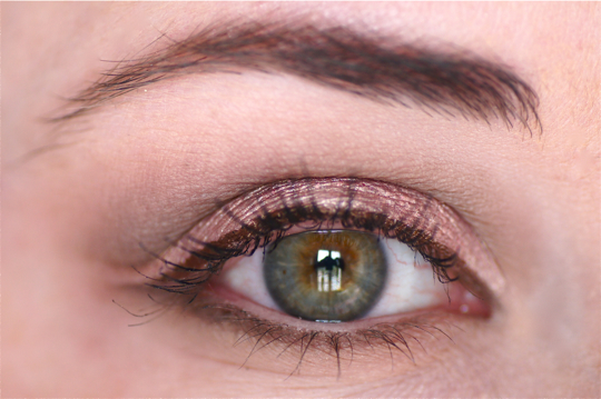 makeup up yeux oeil marron