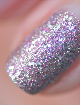 vernis swatch nails inc 3D glitter marybelone pink pastel