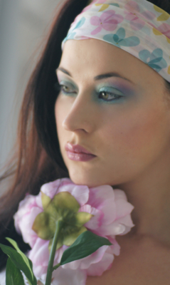 maquillage pastel lilas turquoise