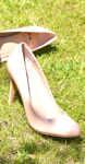 chaussures talons beige
