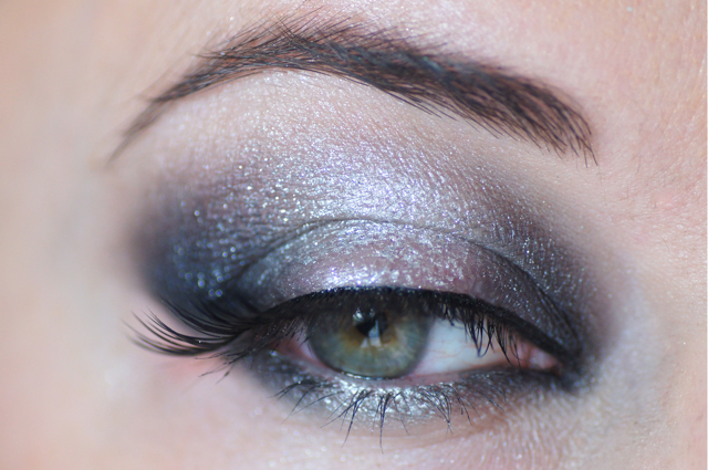 smokey eyes smoky argent metallique