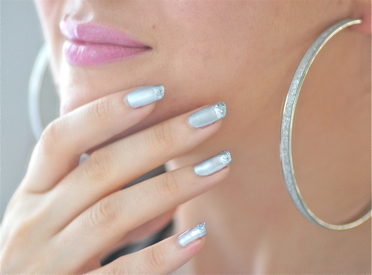 vernis argent ongles