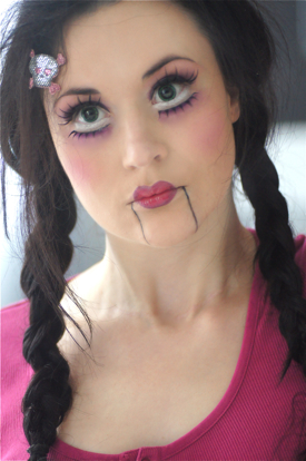 Maquillage halloween vampire doll dieu cr a la femme - Maquillage poupe demoniaque ...