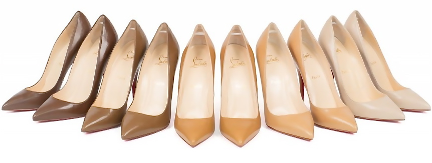 chaussures shades nudes de christian louboutin