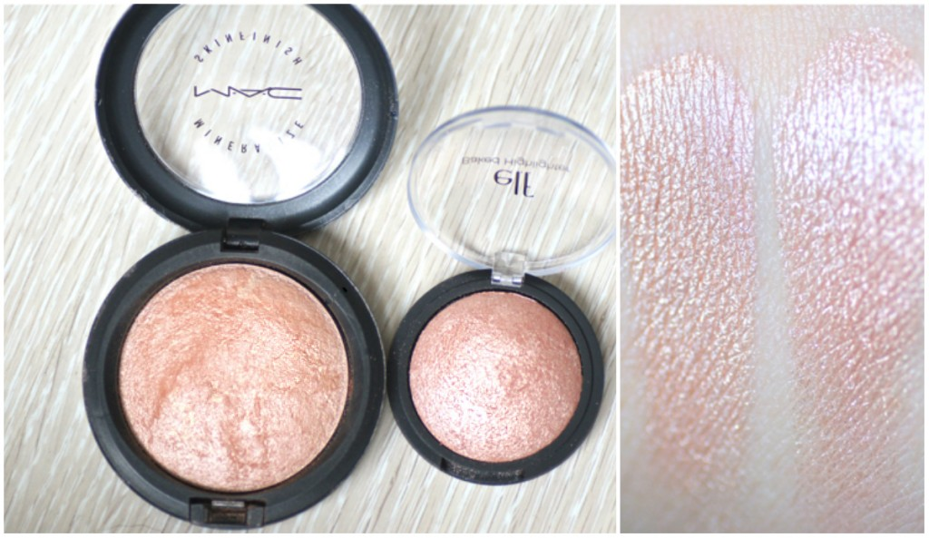 baked highlighter marbre blush gems elf dupe mineralize skinfinish mac soft and gentle