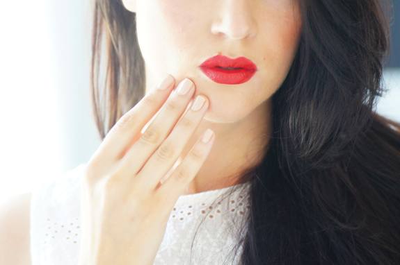 bouche rouge red lips