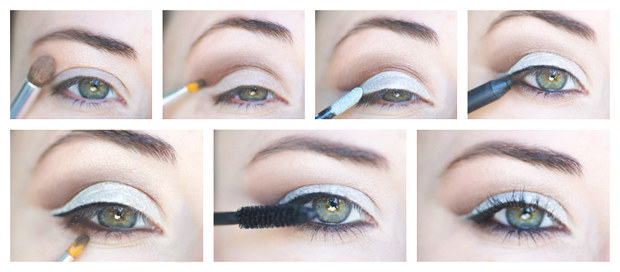tuto makeup yeux maquillage argente metal