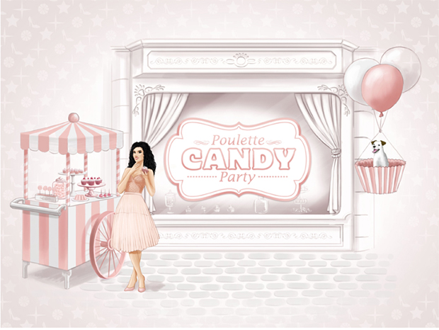 poulette candy party