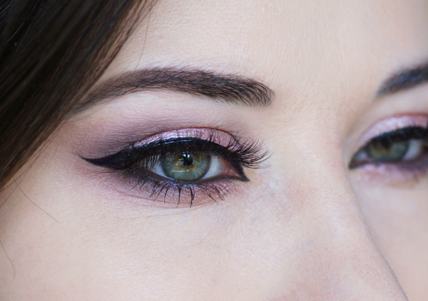 resultat du maquillage makeup yeux rose pink gold