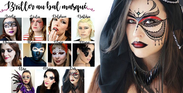 maquillage masque carnaval venise makeup bal masque