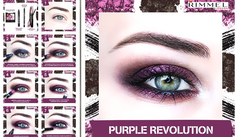 tuto maquillage saint valentin purple prune