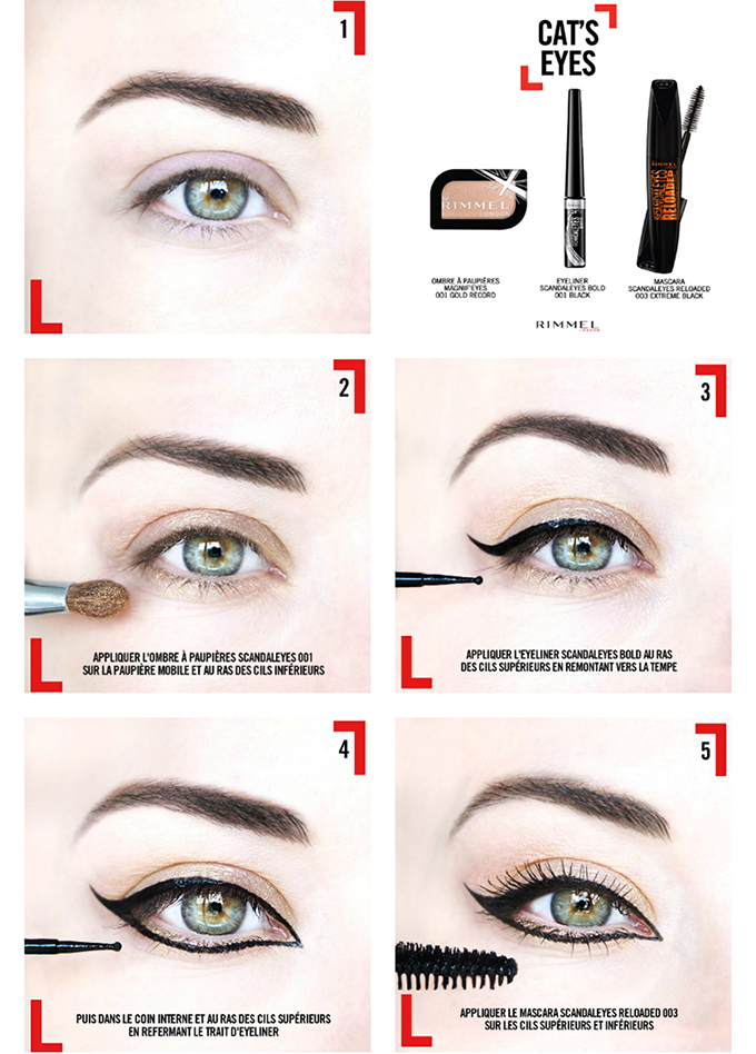 IEL tuto tutoriel maquillage yeux cats eyes rimmel